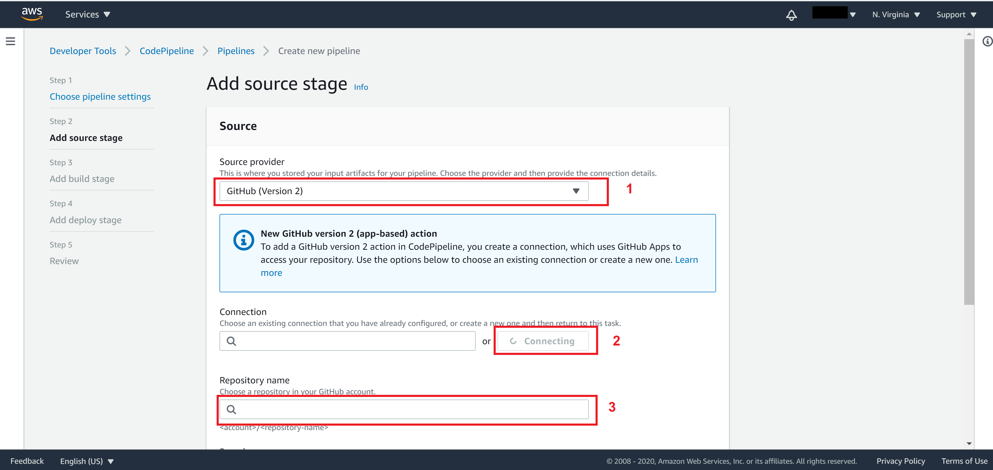 Add source stage