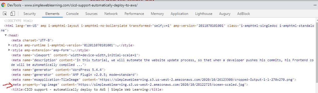 og:image on HTML
