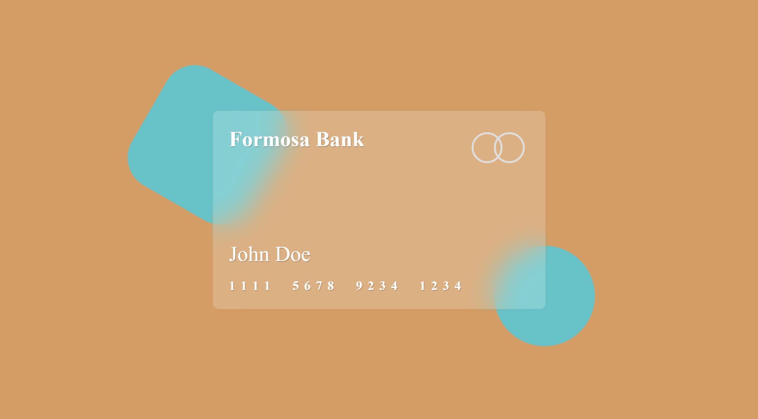 Glassmorphism Credit Card