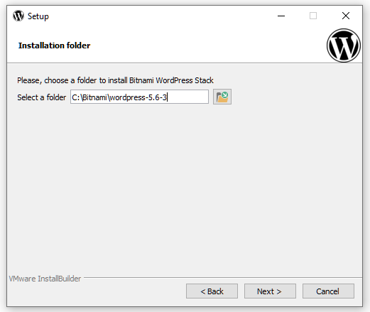 Select installation directory