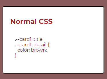 Normal CSS