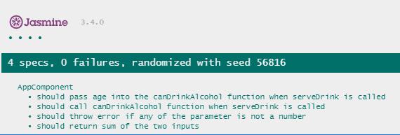 Test function argument result