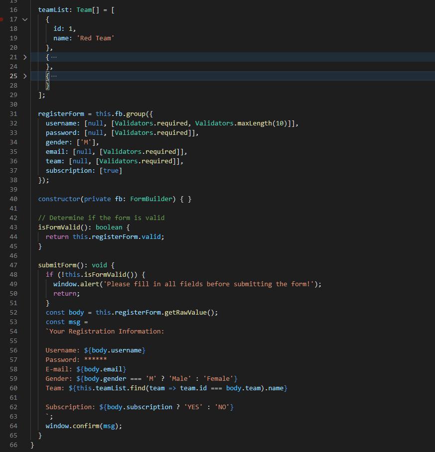 TypeScript Code