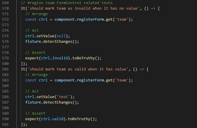 Team Required Validation Tests