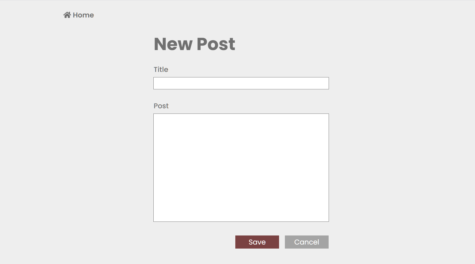 Form Application - Create New Post