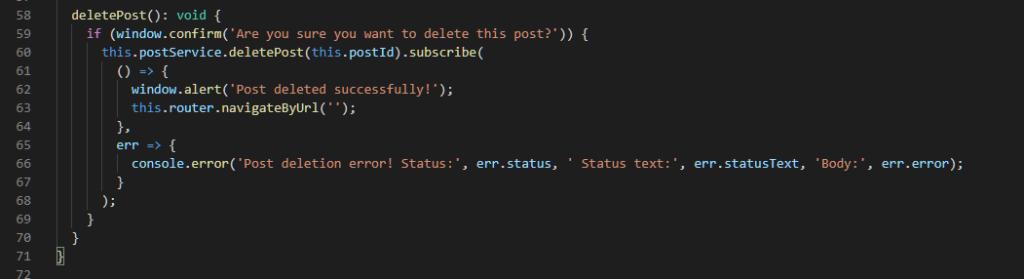 Delete Post Method