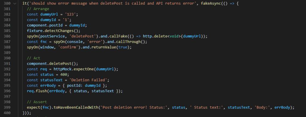Error Response Test