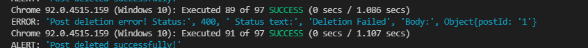 Error Log in the Console